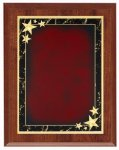 Cherry Red Star Achievement Economy Plaque Shield Plaques