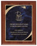 Cherry Blue Star Sweep Economy Plaque Shield Plaques