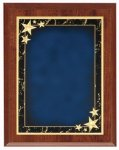 Cherry Blue Star Achievement Economy Plaque Shield Plaques