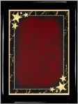 Ebony Red Star Achievement Plaque Shield Plaques