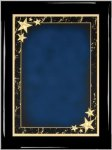 Ebony Blue Star Achievement Plaque Shield Plaques