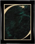 Ebony Green Star Sweep Plaque Shield Plaques