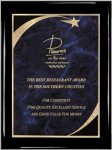 Ebony Blue Star Sweep Plaque Shield Plaques