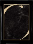 Ebony Grey Star Sweep Plaque Shield Plaques