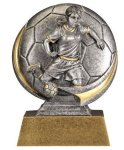 Soccer 3D Motion Trophy (Female) Soccer Trophies