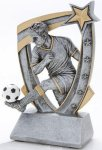 3D Star Soccer Award (Male) Soccer Trophies