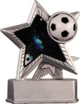 Soccer - Silver Star Motion Series Resin Soccer Trophies