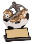 Male Soccer Explosion Resin Trophy Soccer Trophies