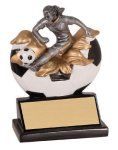 Female Soccer Explosion Resin Trophy Soccer Trophies