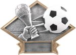 Soccer - Diamond Plate Resin Trophy Soccer Trophies