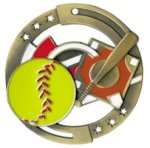Color Star Medal - Softball Softball Medals