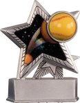 Softball - Silver Star Motion Series Resin Softball Trophies