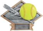Softball - Diamond Plate Resin Trophy Softball Trophies