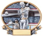 Softball 3D Oval Trophy Softball Trophies