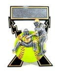 Lightning Bolts Softball Award Softball