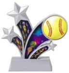 Softball Holographic Rising Star Trophy Softball