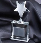 Star On Crystal Base Star Crystal Awards