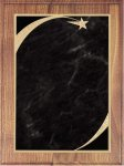 Walnut Plaque - Grey Star Sweep Star Plaques