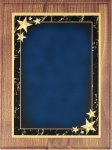 Walnut Plaque - Blue Star Achievement Star Plaques