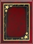 Rosewood Red Star Achievement Plaque Star Plaques
