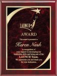 Rosewood Red Star Sweep Plaque Star Plaques