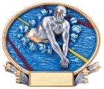 Swimming 3D Oval Trophy (Male) Swimming Trophies