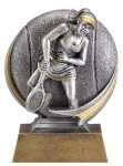 Tennis 3D Motion Trophy (Female) Tennis Trophies