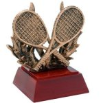 Tennis W/ Racquets Resin Tennis Trophies