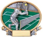 Tennis 3D Oval Trophy (Male) Tennis Trophies