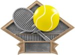 Tennis - Diamond Plate Resin Trophy Tennis