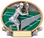 Tennis 3D Oval Trophy (Female) Tennis