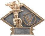 Victory - Diamond Plate Resin Trophy Victory Awards