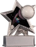 Volleyball - Silver Star Motion Series Resin Volleyball Trophies
