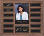 Walnut Perpetual Photo Plaque Walnut Plaques
