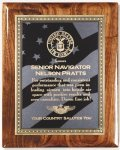 Walnut Gloss Plaque - US Flag Walnut Plaques