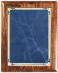 Walnut Gloss Plaque - Blue Heritage Walnut Plaques