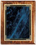 Walnut Gloss Plaque - Blue Marble Mist Walnut Plaques