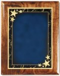 Walnut Gloss Plaque - Blue Star Achievement Walnut Plaques