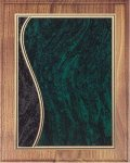 Walnut Plaque - Green Swirl Walnut Plaques