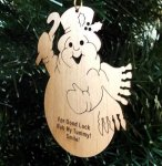 Snowman Christmas Ornament Wood Christmas Ornaments