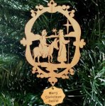 Mary and Joseph Ornament Wood Christmas Ornaments