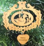 Duck Christmas Ornament Wood Christmas Ornaments