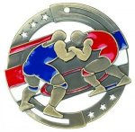 Color Star Medal - Wrestling Wrestling Medals
